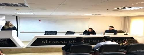 Finans ve Ekonometri öğrenci topluluğu tarafından, Sayın Filiz Akkaş'ın konuşmacı olarak katılımıyla bir etkinlik gerçekleştirilmiştir.